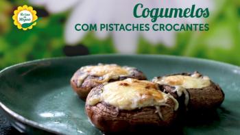 Cogumelos com Pistaches Crocantes